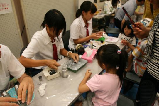 愛媛化学展-演示実験